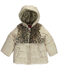 "London Fog Baby Girls' ""Leopard Chest"" Insulated Jacket - CookiesKids.com"