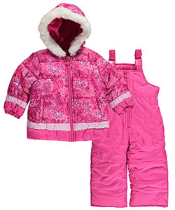 "London Fog Baby Girls' ""Winter Garden"" 2-Piece Insulated Snowsuit - CookiesKids.com"