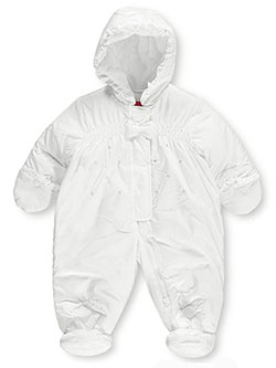 "London Fog Baby Girls' ""Snow Bow"" 1-Piece Insulated Snowsuit - CookiesKids.com"