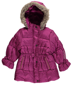 "London Fog Little Girls' Toddler ""Magic Buttons"" Insulated Jacket (Sizes 2T - 4T) - CookiesKids.com"