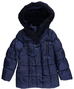 "London Fog Big Girls' ""Classic Quilt"" Insulated Parka (Sizes 7 – 16) - CookiesKids.com"
