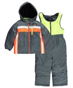 "London Fog Little Boys' Toddler ""Retro Stripe"" 2-Piece Snowsuit (Sizes 2T – 4T) - CookiesKids.com"