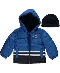 "London Fog Baby Boys' ""All Star Snowman"" Insulated Jacket with Hat - CookiesKids.com"