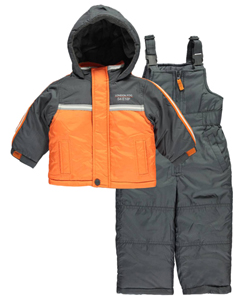 "London Fog Baby Boys' ""Elastic Stripes"" 2-Piece Snowsuit - CookiesKids.com"