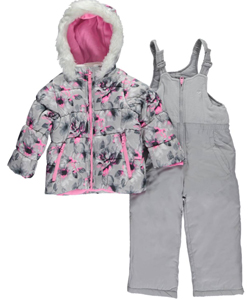 "OshKosh Little Girls' ""Water-Colored Winter"" 2-Piece Snowsuit (Sizes 4 – 6X) - CookiesKids.com"