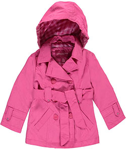 "London Fog Big Girls' ""May Fair"" Belted Trench Coat (Sizes 7 – 16) - CookiesKids.com"