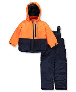 "OshKosh Little Boys' ""Reflective Highlight"" 2-Piece Snowsuit (Sizes 4 – 7) - CookiesKids.com"