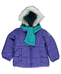 London Fog Little Girls' Toddler Insulated Jacket with Scarf (Sizes 2T – 4T) - CookiesKids.com