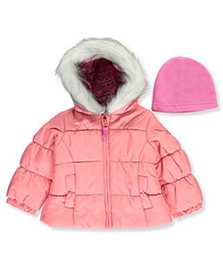 London Fog Baby Girls' Jacket with Beanie - CookiesKids.com