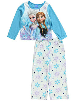 "Disney Frozen Little Girls' Toddler ""Sisters & Snowflakes"" 2-Piece Pajamas (Sizes 2T – 4T) - CookiesKids.com"