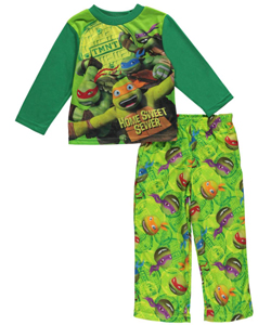 "TMNT Little Boys' ""Home Sweet Sewer"" 2-Piece Pajamas (Sizes 4 – 7) - CookiesKids.com"