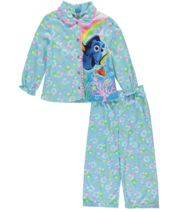 "Disney Finding Dory Little Girls' Toddler ""Ruffled Bubbles"" 2-Piece Pajamas (Sizes 2T – 4T) - CookiesKids.com"
