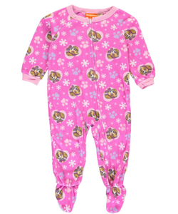 "Paw Patrol Baby Girls' ""Sleepy Skye"" 1-Piece Footed Pajamas - CookiesKids.com"