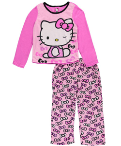 "Hello Kitty Little Girls' ""Infinite Bows"" 2-Piece Pajamas (Sizes 4 – 6X) - CookiesKids.com"