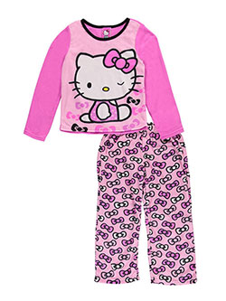 "Hello Kitty Big Girls' ""Infinite Bows"" 2-Piece Pajamas (Sizes 7 – 16) - CookiesKids.com"