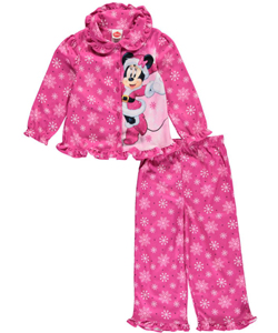"Minnie Mouse Little Girls' Toddler ""Holiday Snowflakes"" 2-Piece Pajamas (Sizes 2T – 4T) - CookiesKids.com"