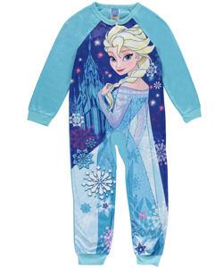 "Disney Frozen Little Girls' ""Sleepy Elsa"" 1-Piece Pajamas (Sizes 4 – 6X) - CookiesKids.com"