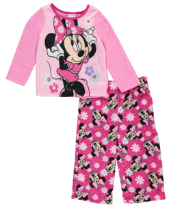 "Minnie Mouse Baby Girls' ""Flower Busts"" 2-Piece Pajamas - CookiesKids.com"