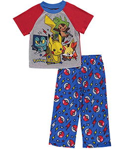 "Pokemon Little Boys' ""4 Favorites"" 2-Piece Pajamas (Sizes 4 – 7) - CookiesKids.com"