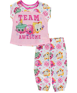 "Shopkins Little Girls' ""Team Awesome!"" 2-Piece Pajamas (Sizes 4 – 6X) - CookiesKids.com"
