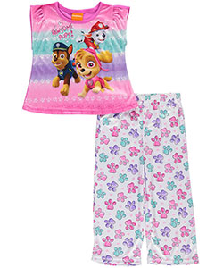 "Paw Patrol Little Girls' Toddler ""Pawsome Pups!"" 2-Piece Pajamas (Sizes 2T – 4T) - CookiesKids.com"