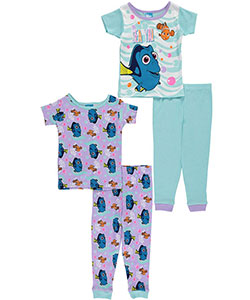 "Finding Dory Baby Girls' ""Sea Ya!"" 4-Piece Pajama Set - CookiesKids.com"
