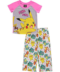 "Pokemon Little Girls' ""Pika Pika!"" 2-Piece Pajamas (Sizes 4 – 6X) - CookiesKids.com"