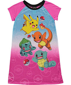 "Pokemon Big Girls' ""Everybody Run!"" Nightgown (Sizes 7 – 16) - CookiesKids.com"