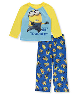 "Minions Little Boys' Toddler ""Who's Up for Trouble?"" 2-Piece Pajamas (Sizes 2T – 4T) - CookiesKids.com"