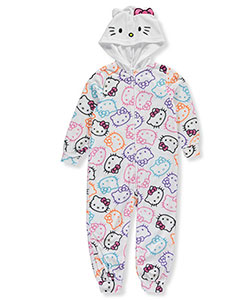 Hello Kitty Little Girls' Toddler Footed 1-Piece Pajamas (Sizes 2T – 5T) - CookiesKids.com