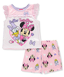 Disney Baby Girls' 2-Piece Pajamas Featuring Minnie Mouse & Daisy Duck - CookiesKids.com