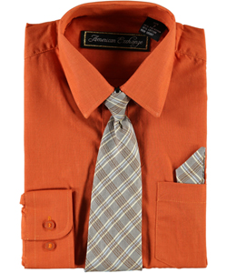 American Exchange Big Boys' Dress Shirt Set (Sizes 8 - 20) - CookiesKids.com