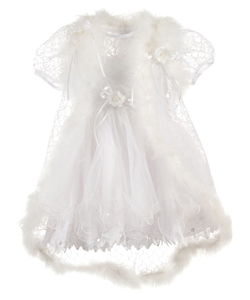 "The Christening Collection Baby Girls' ""Floating"" 3-Piece Christening Outfit - CookiesKids.com"