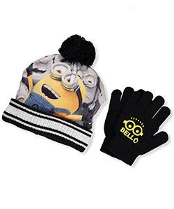 Despicable Me Boys' Beanie & Gloves Set (Youth One Size) - CookiesKids.com