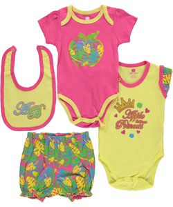 "Apple Bottoms Baby Girls' ""Paintbrush Plaid"" 4-Piece Layette Set - CookiesKids.com"