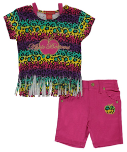 "Apple Bottoms Baby Girls' ""Fringed Leopard"" 2-Piece Outfit - CookiesKids.com"