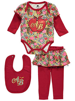 "Apple Bottoms Baby Girls' ""Gem Princess"" 3-Piece Outfit - CookiesKids.com"