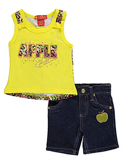 "Apple Bottoms Baby Girls' ""Confetti"" 2-Piece Outfit - CookiesKids.com"