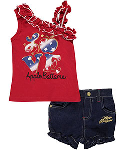 "Apple Bottoms Baby Girls' ""American Ruffle"" 2-Piece Outfit - CookiesKids.com"