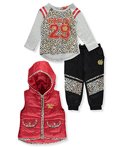 "Apple Bottoms Baby Girls' ""Fearless Feline"" 3-Piece Outfit - CookiesKids.com"