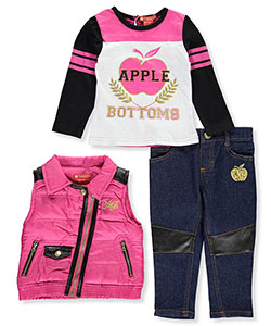 "Apple Bottoms Baby Girls' ""Luxe Panel"" 3-Piece Outfit - CookiesKids.com"
