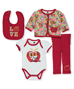 "Apple Bottoms Baby Girls' ""Heart Links"" 4-Piece Layette Set - CookiesKids.com"