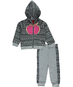 "Apple Bottoms Baby Girls' ""Tribal Fruit"" 2-Piece Fleece Sweatsuit - CookiesKids.com"