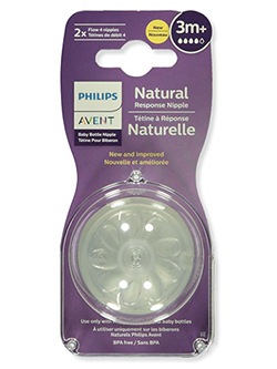 Avent 2-Pack Natural Fast Flow Nipples - CookiesKids.com