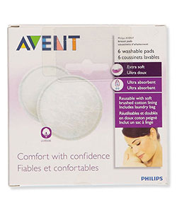 Avent 6-Pack Washable Day Pads - CookiesKids.com