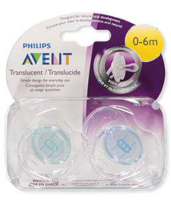 Avent 2-Pack Orthodontic Translucent Pacifiers - CookiesKids.com