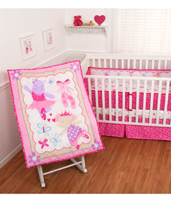 "Sumersault ""Ballerina Friends"" 4-Piece Crib Set - CookiesKids.com"
