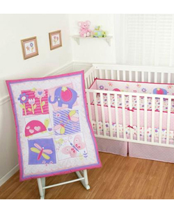 "Sumersault ""Forever Friends"" 4-Piece Crib Set - CookiesKids.com"