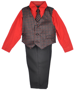 "Andrew Fezza ""Rectangle Zigzag"" 4-Piece Vest Set (Sizes 12M – 24M) - CookiesKids.com"