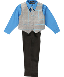 "Andrew Fezza ""Hampson"" 4-Piece Vest Set (Sizes 2T – 4T) - CookiesKids.com"